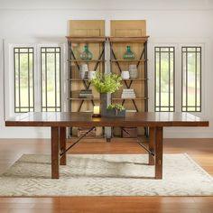 $651 TRIBECCA HOME Swindon Rustic Oak Turnbuckle Extending Dining Table