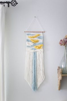 Mango and turquoise wall hanging Weave RTS woven wall hanging tapestry by MarquisWeaves on Etsy