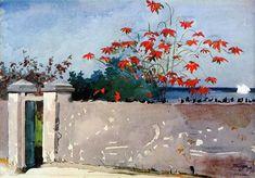 Winslow Homer - A Wall, Nassau