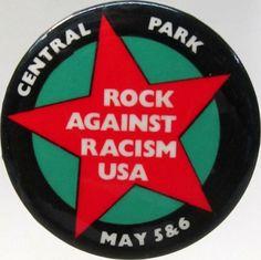 Rock Against Racism USA - Button Badge Pinback Pin Fridge Magnet & Pocket Mirror by BeatGorilla