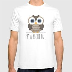I'm A Night Owl by A Little Leafy  @society6 #tshirt #shirt #women #men #funny #owl #nightowl #night #bird #nature #illustration #cartoon #drawing #cute #products #chic #fashion #style #gift #idea #society6 #design #shop #shopping #buy #sale #fun #accessory #accessories #art #contemporary #cool #hip #awesome  #sweet