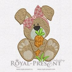 Free Machine Embroidery Design - Little Bunny