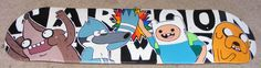 Adventure Time and Regular Show skateboard deck I painted