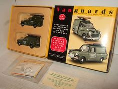 Vanguards PO1002, Box Set of 2 Post Office Telephone Vans, Morris Minor & Anglia