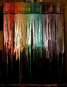 METALLIC crayon art..even better than the original