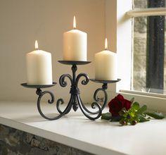 Three Pillar Candle Display