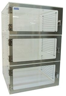 Nitrogen Desiccator Cabinet, Acrylic, Three Chambers, with Gas Ports A Shelf, Shelves, Lab Supplies, Stainless Steel Doors, Computer Case, Door Design, Clear Acrylic, Bathroom Medicine Cabinet, Cleaning