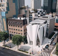Christian de Portzamparc's design for #Dior in Seoul.