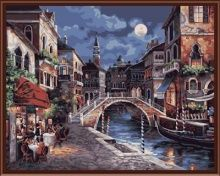 """Раскраски по номерам """"Ночная Венеция"""" 🖼 красивые наборы для рукоделия! Распродажа на Hit-Hunter.ru"""