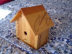Wine Box Bird House - love this!