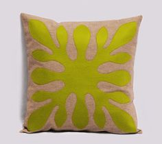 Decorative Pillow Cover - Green pillow - Hawaiian Pillow - 18x18 inches, Decorative Pillows, Green Cushion, Made To Order