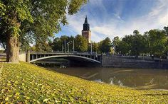 Turku Cathedral, situated on the hillock of Unikankare, is Finland's National Sanctuary. Wonderful Places, Great Places, Beautiful Places, Cities In Finland, Places Around The World, Around The Worlds, Finland Summer, World Discovery, Turku Finland