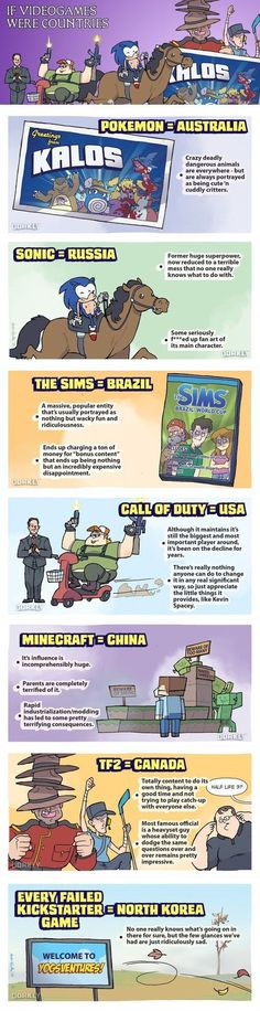 Dorkly Comic: If Video Games Were Countries [Comic]