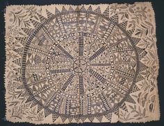 Tapa (bark cloth)  Hiapo (tapa). Niue. c. 1850–1900  C.E. Tapa or bark cloth, freehand  painting. © Auckland War Memorial Museum/Pacific Collection 1948.34
