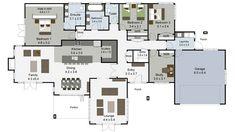 Karapiro | Landmark Homes NZ Best House Plans, House Floor Plans, Building Design, Building A House, 4 Bedroom House Plans, New Zealand Houses, House Address, New Home Builders, Small House Design