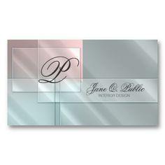 Rectangular Glass on Pastels Business Card Templates
