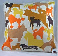 Dog bed with Jonathan Adler pattern