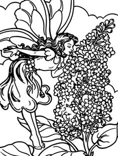 Printable Flower Coloring Pages, Coloring Pages For Kids, Flowering Shrubs, Lilac Flowers, Online Coloring, Coloring Sheets, Hello Everyone, Fairy, Sky
