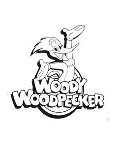 woody woodpecker coloring page