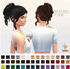 Miss Paraply: Retexture of Curly ponytail by Kiara24 • Sims 4 Downloads