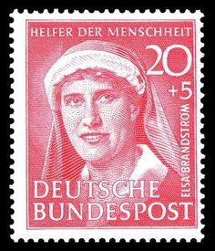 Wohlfahrts-Briefmarke für Elsa Brändström, Deutsche Bundespost 1951