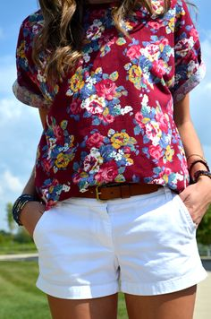 floral tee via Clothed In Confetti Blog