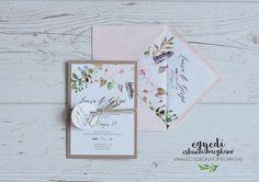Floral-rustic vintage wedding invitaion / Virágos-natúr vintage esküvői meghívó Weddings, Rings, Wedding, Ring, Jewelry Rings, Marriage