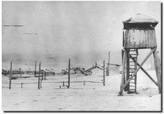 Communist Gulag camps were hell on earth. Above: An isolated slave camp in the icy region of Siberia. Inmates worked and shivered in frigid conditions, and untold millions perished. Today, Jewish controlled government media in Russia and the U.S.A. allow no-one to tell their pitiful story of suffering, pain, and death.