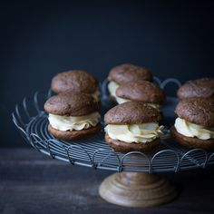 Gingerbread Whoopie Pies with Maple Poached Pears and Maple Buttercream www.pineappleandcoconut.com #Christmasweek by PineappleAndCoconut, via Flickr