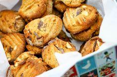 Cookies med nødder og chokolade (uden sukker og gluten)-6