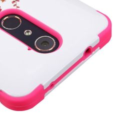 ZTE Kirk Z988 / Grand X Max 2 / Max Duo 4G Z962G / Imperial Max Z963U Case, Kaleidio [TUFF] Rugged Shockproof Hybrid Heavy Duty Cover [Includes a Overbrawn Prying Tool] [Pink Cherry Flowers] -- Awesome products selected by Anna Churchill