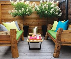 Bright Back Deck | Photo Gallery: Small Backyards | House & Home | Photo by Donna Griffith