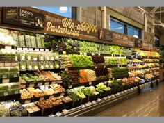 Fruit & Veg isle of a high end supermarket, isle looks clean, well laid out and would target to people in the higher classes.