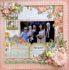 Maria Featon's Gallery with Layouts, Projects and Photos. Scrapbook Journal, Scrapbook Albums, Scrapbook Supplies, Scrapbooking Layouts, Cherished Memories, Wedding Scrapbook, Anna Griffin, Graphic 45, Altered Art