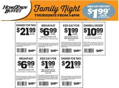 Pinned August 29th: $7 bottomless breakfast & more at Hometown #Buffet #coupon via The #Coupons App