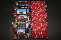 CASE IH Cornhole Bags International Harvester Farmall by lots2ofr2