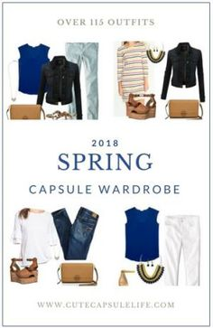 Today I am excited to share my Spring Mini-Capsule. If you've never tried a capsule wardrobe, a mini-capsule is a simple way to try one out. Mini-capsules are also great for trips; Capsule Wardrobe Mom, Mom Wardrobe, Travel Wardrobe, Stylish Mom Outfits, Casual Outfits, Minimalist Wardrobe, Minimalist Fashion, Summer Minimalist, Fashion Capsule