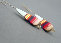 Contemporary hand sculpted polymer clay earrings by Marizhka, $42.00 VERY NICE STUFF