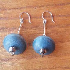 Aarikka Finland Earrings VTG Blue/Turquoise Wood Beads Silver Toned Metal Dangle #Aarikka #Beaded Finland, Dangle Earrings, Dangles, Turquoise, Beads, Metal, Wood, Silver, Blue