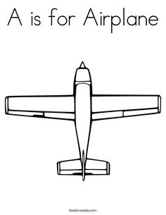 Coloring Pages Airplanes Preschool. A is for Airplane Worksheet  Transportation Coloring Pages To Print For Free http procoloring com