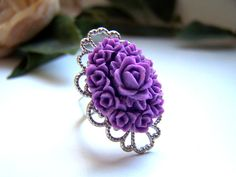 the purple georgia ring by barberryandlace on Etsy, $11.00