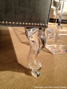 How I love Lucite! Lucite leg by Allan Knight