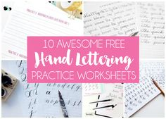 10 Free Hand Lettering Practice Worksheets