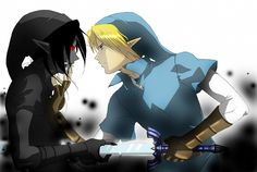 Link defeating Dark Link: Am I the only one who thinks of Peter Pan and his shadow?