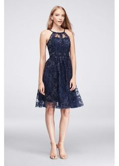 Floral Illusion Mini Dress with Crisscross Waist 39J009