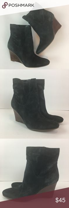 ✨Marc Fisher Wedge Booties✨ 👠👞👟👡👢👠👞👟👡👢👠👞👟👡👢  YOU ARE BUYING: Marc Fisher Boots  STYLE: Wedge Booties   COLOR: black  SIZE: 8.5 M  CONDITION: Pre-owned, some fading on the suede; slight wear to heels and soles. Marc Fisher Shoes Ankle Boots & Booties