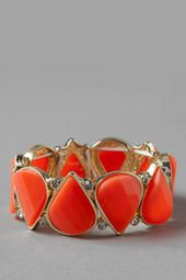 Bucharest Neon Stretch Bracelet  - Love this beautiful blood-orange color! Great for a night out on the town! -