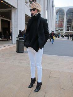 Elin Kling, she's got some style, love this black & white combo.