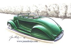 chip foose customs | Finnish Chip Foose concept drawing of custom
