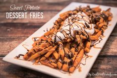 Sweet potato dessert? Yes, sweet potato fries make a tasty and healthy dessert that is nutrient-packed and delicious. These are quick and easy to make!